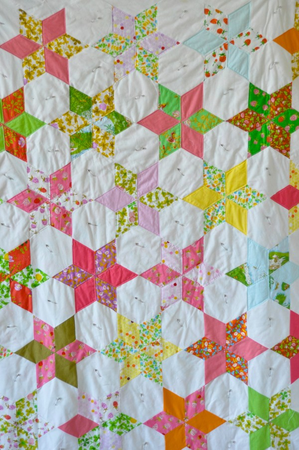 Star Flower Quilt in Briar Rose