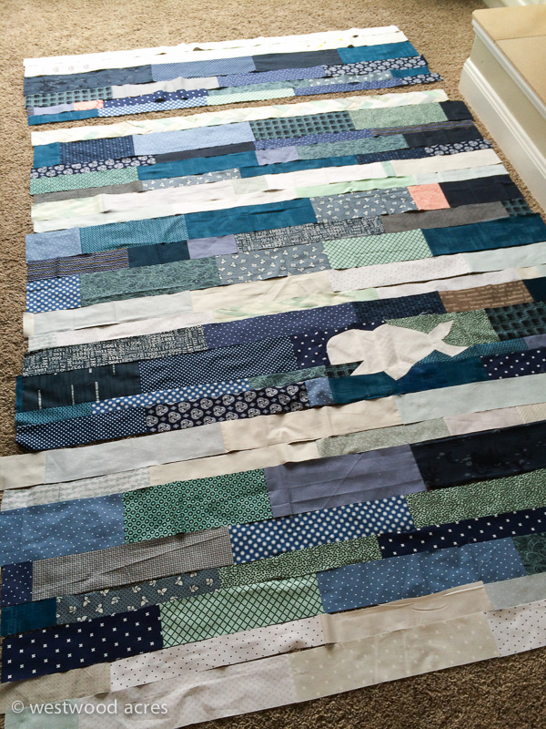 Nautical Quilt Layout