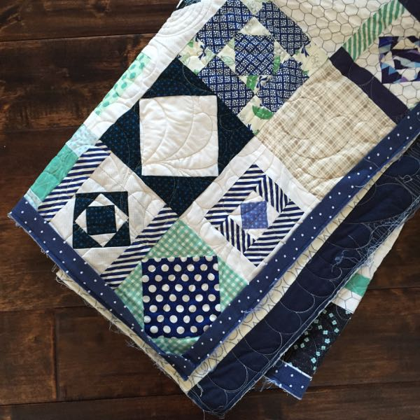 Summer House Quilt with Binding Attached