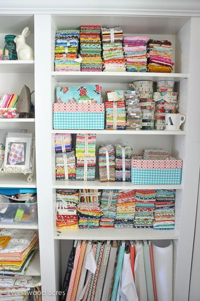 Fabric Storage Makeover at A Crafty Fox Blog
