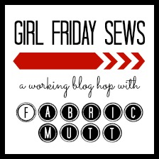 Framed Office Supply Pouch: Girl Friday Hop