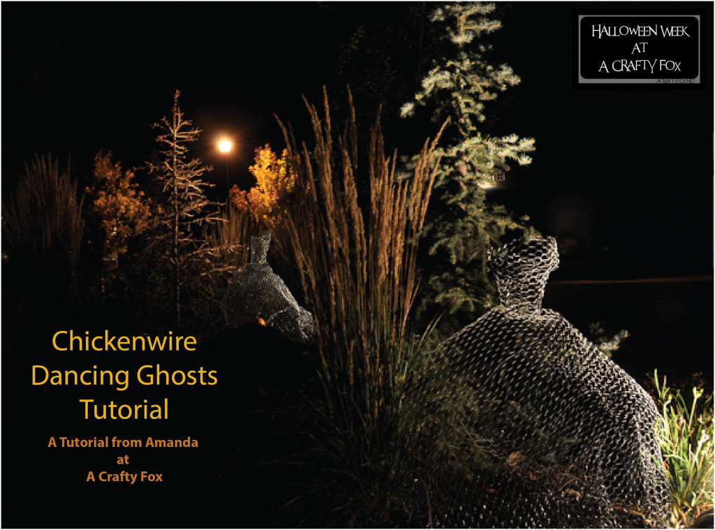 Chickenwire Dancing Ghosts Tutorial from Amanda at ACraftyFox-01