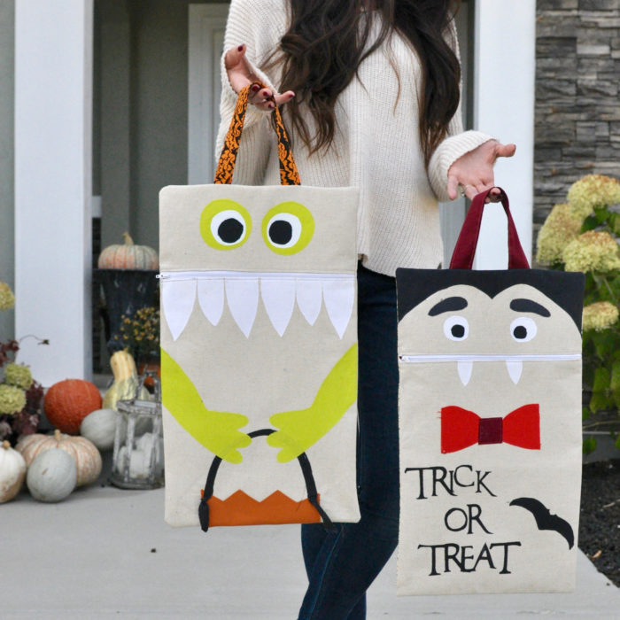 Trick Or Treat – A Free Kid Friendly DIY Pattern from A Crafty Fox