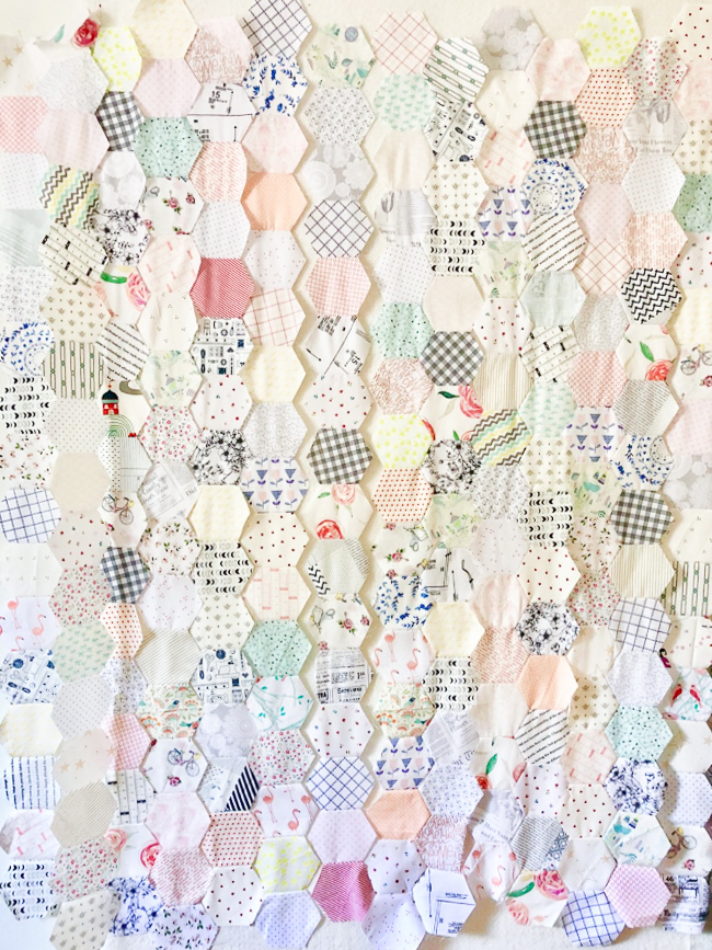 It's All About Values - A Hexagon Low Volume Quilt | A